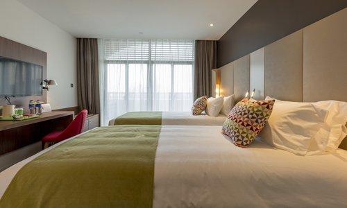A guestroom in the Campanile Huzhou Taihu Lake Hotel (Photo/Courtesy of Campanile Huzhou Taihu Lake Hotel)