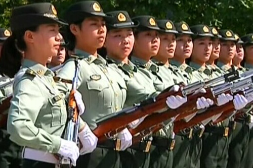 Honor Guards train for National Day celebration
