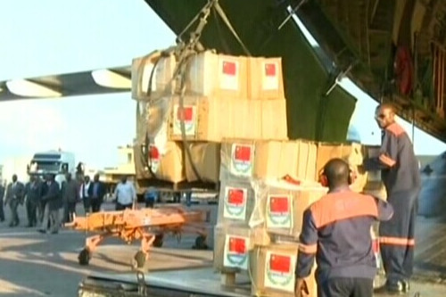 17 tons of Chinese Ebola aid arrives in DR Congo