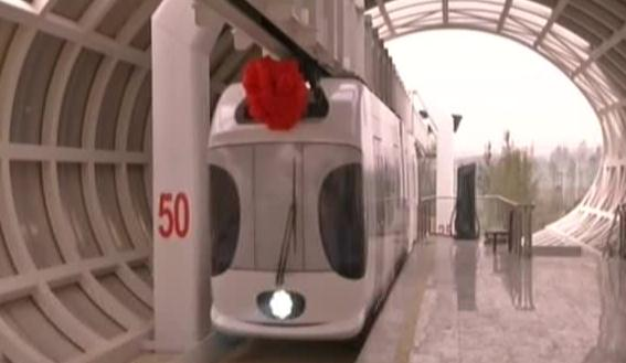 New energy monorail undergoes trial