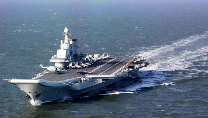Chinese aircraft carrier formation passes through Taiwan Strait