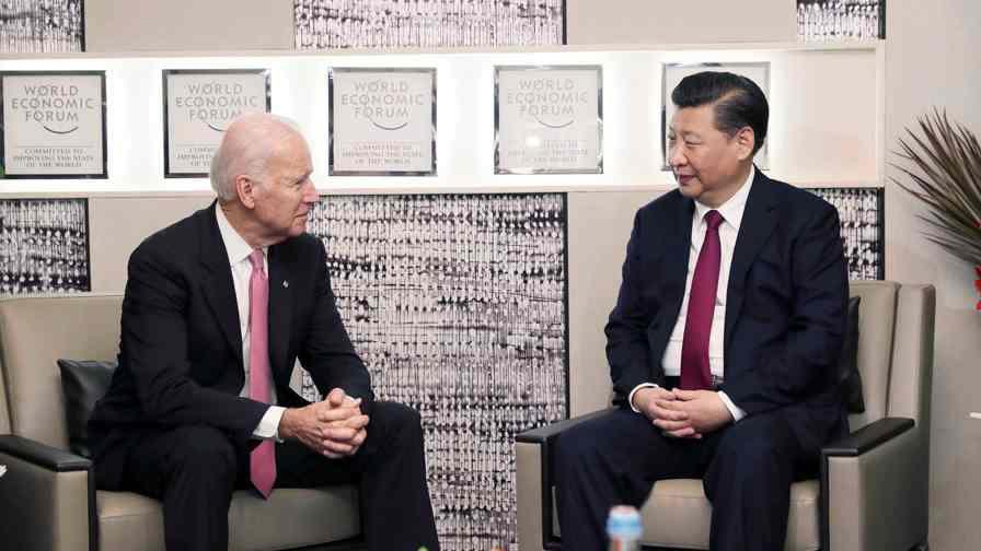 President Xi meets U.S. vice president Biden