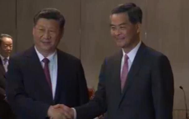 Chinese President Xi Jinping meets outgoing Hong Kong chief executive