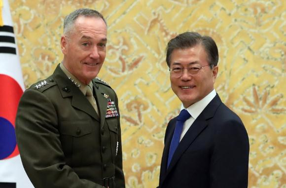 Top U.S. military official stresses peaceful solution on Korean Peninsula