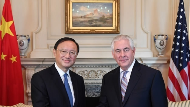 Yang, Tillerson discuss bilateral ties and Afghanistan in phone call