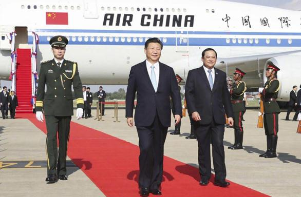 Chinese President Xi Jinping lands in Laos for state visit
