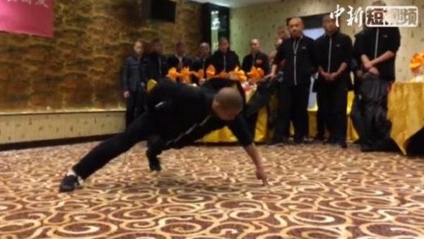 Kung fu! Shaolin monk impresses with 60 second performance