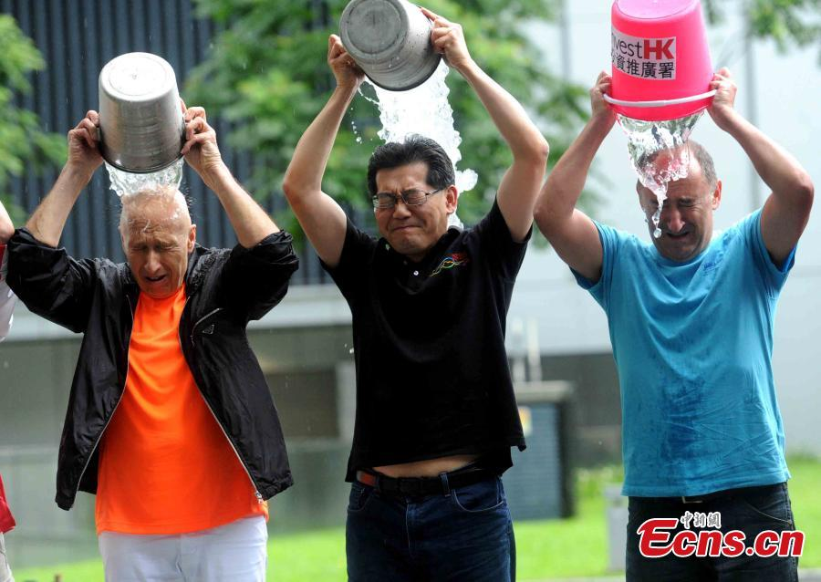 Hong Kong official rises to 'Ice Bucket Challenge'