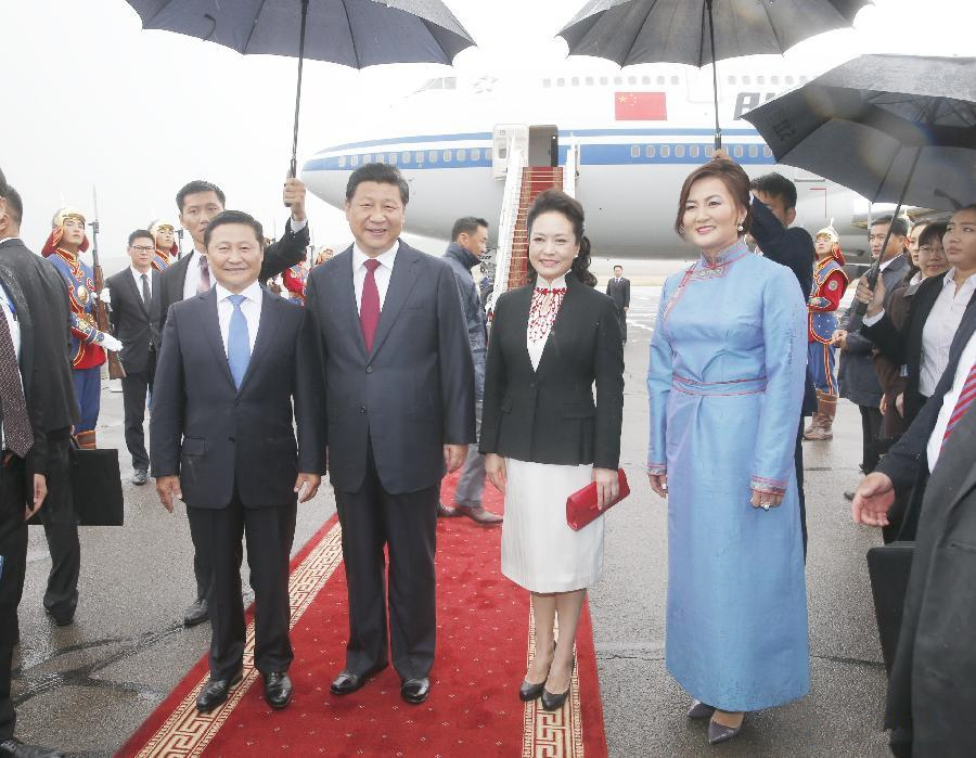 Chinese president arrives in Mongolia for state visit
