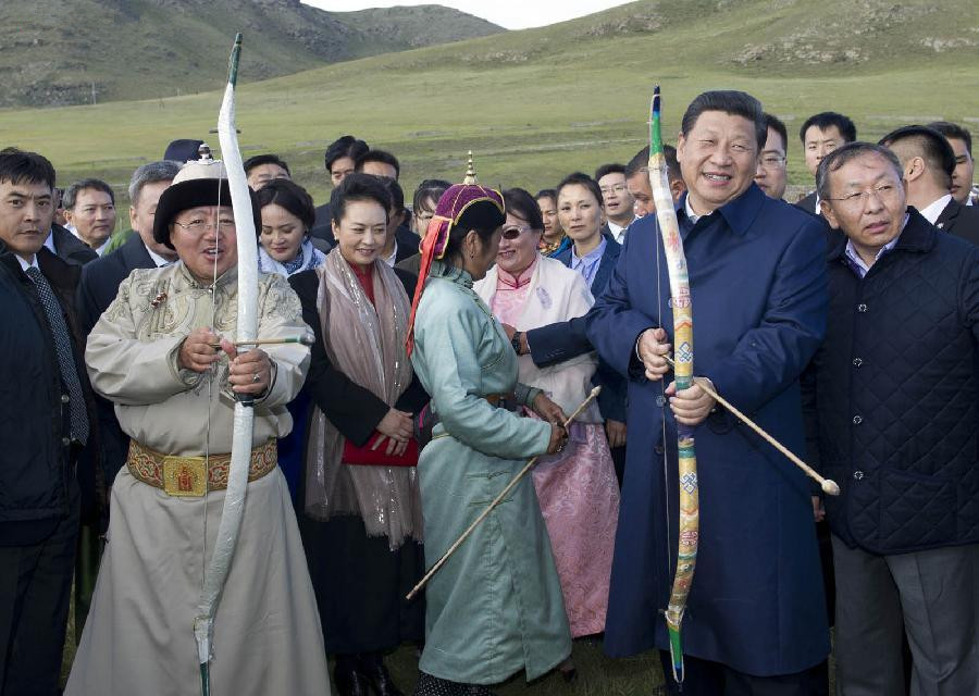Mongolia treats Chinese president Xi with traditional pageant