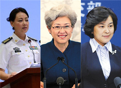 Female spokespersons in China