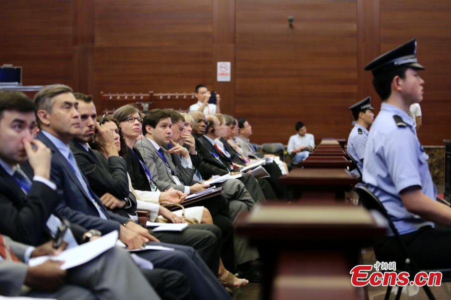 China's supreme court holds open day event for foreign envoys