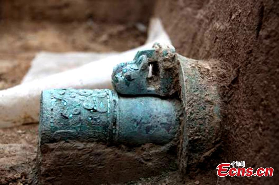 Bronze chariot of Western Zhou Dynasty unearthed in NW China city