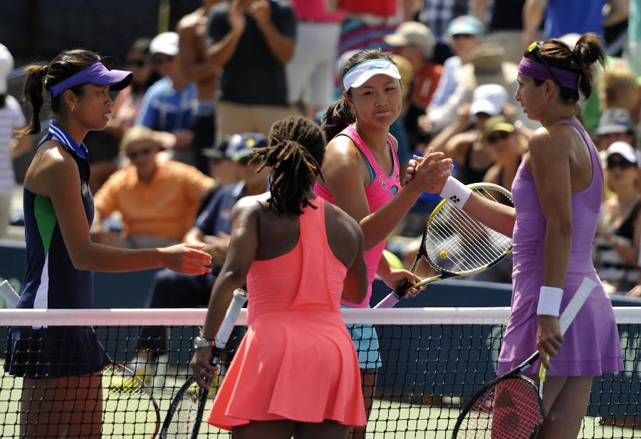 Peng, Hsieh win second round match at 2014 US Open