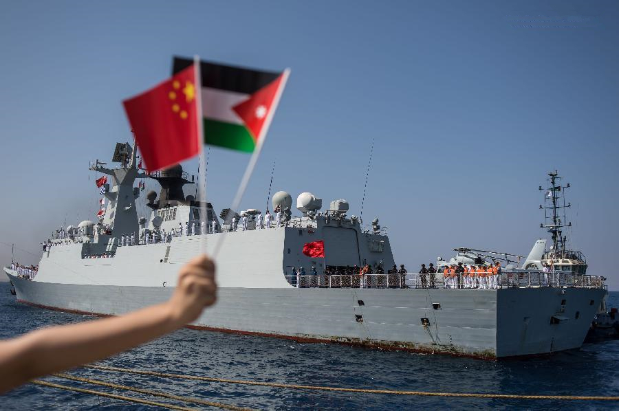 17th Chinese escort naval fleet arrives at Akaba, Jordan