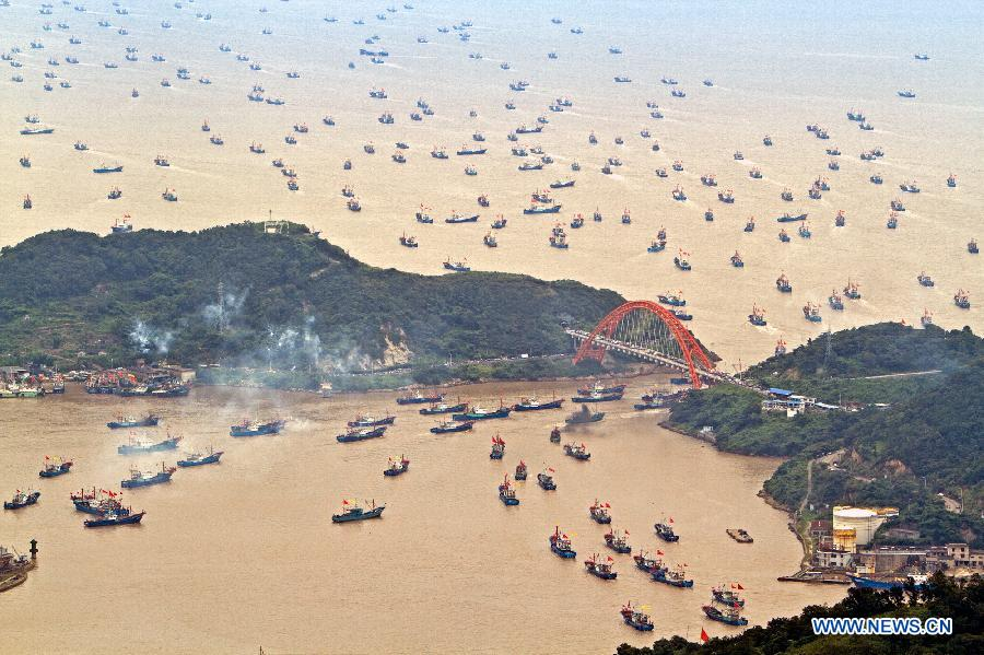 Fishing boats start operation in E China's Zhejiang