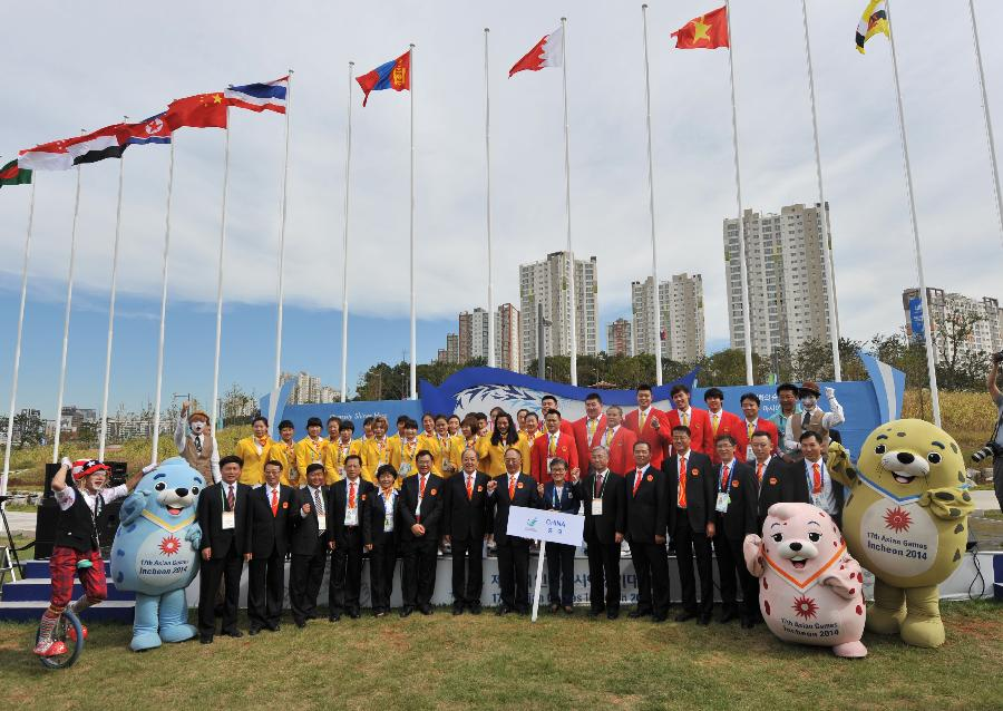 Chinese delegation to the 17th Asian Games holds flag-raising ceremony