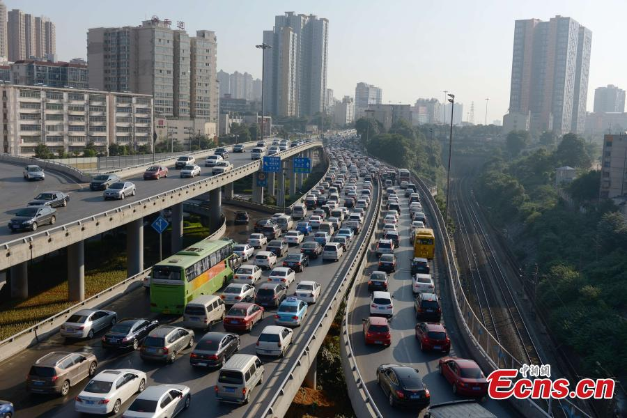 Car Free Day fails to get traffic off roads in Changsha, Hunan