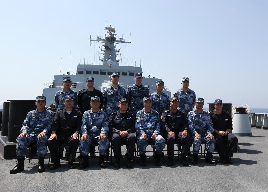 EU 465 formation officers visit Chinese navy's 18th escort naval fleet