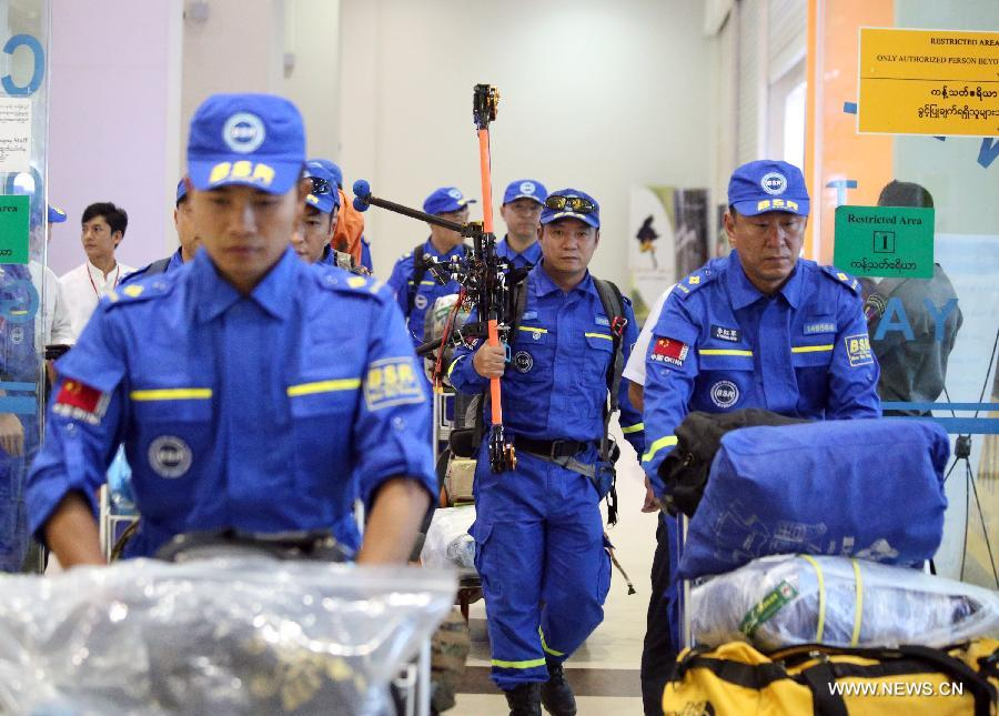 China's Blue Sky Rescue team sends more to Myanmar for rescue operation