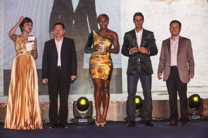 Tennis stars turn on the style at China Open party