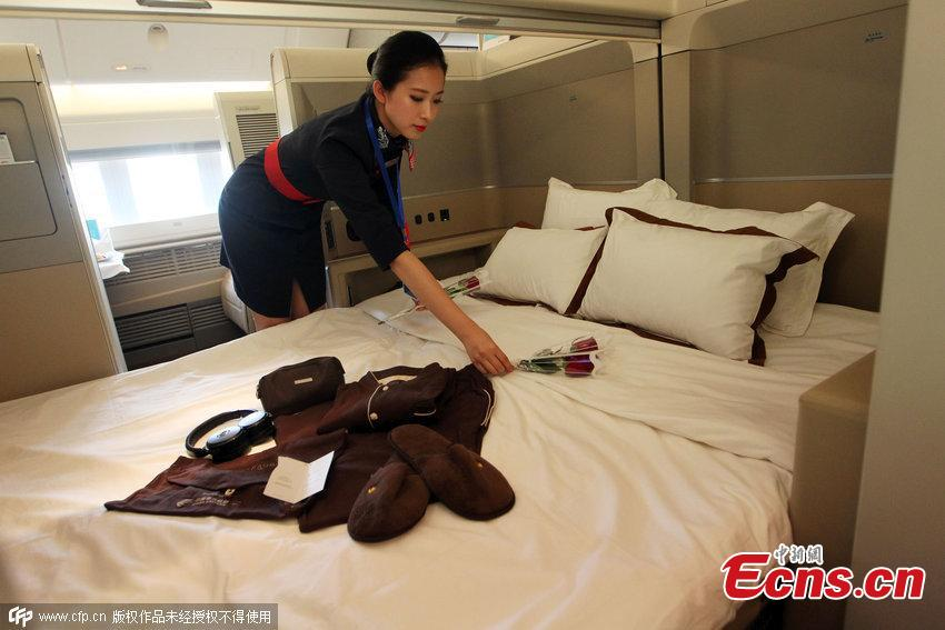 'King bed rooms' on China Eastern Airlines' plane