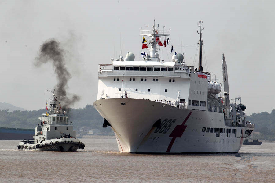 Peace Ark hospital ship returns to Zhoushan