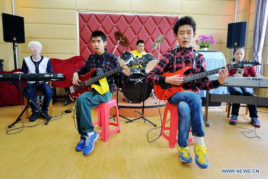 Visually impaired students form band 'Sunshine'