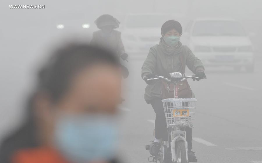 Smog shrouds north China