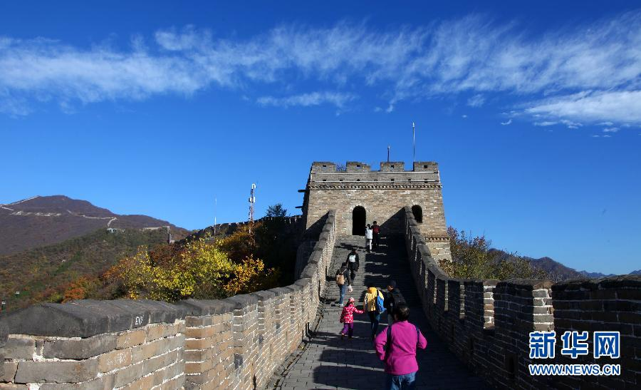 Beijingers see blue sky again after smoggy days