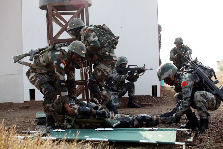 China, India conduct anti-terror military drill