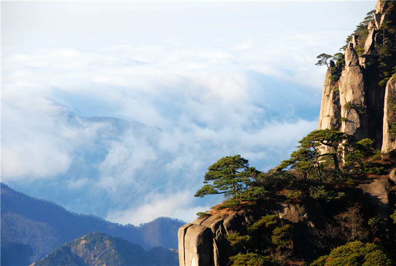Amazing landscape of Mount Huangshan in winter