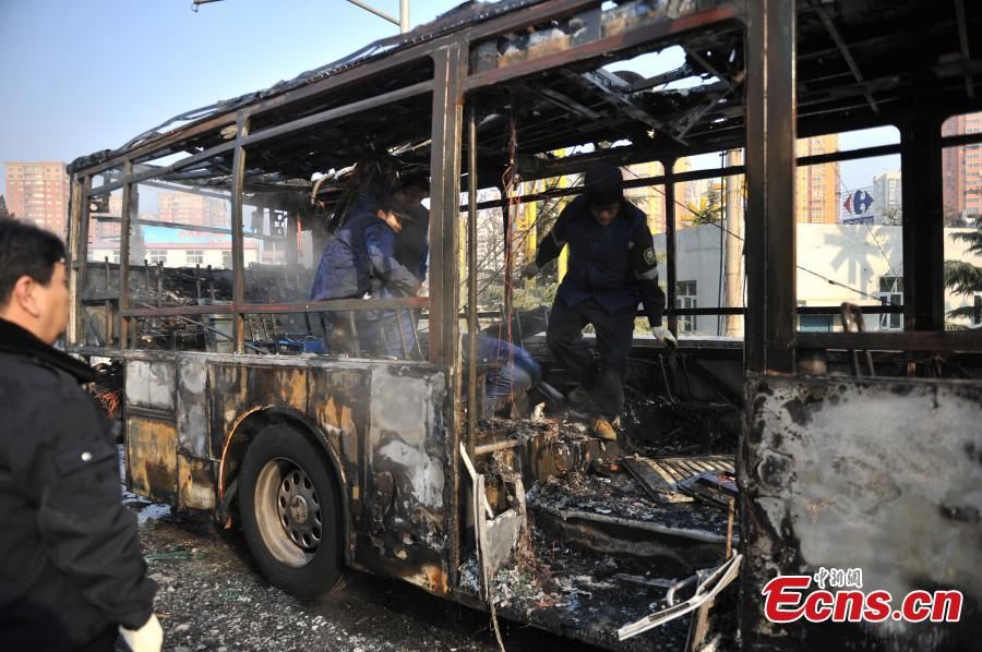 No one injured in Beijing bus fire