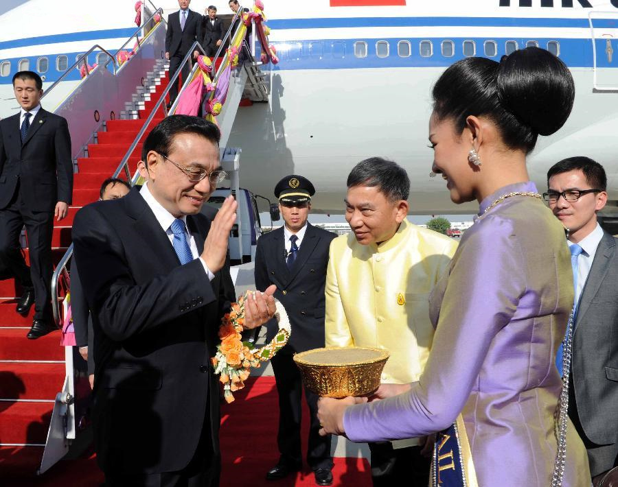 Chinese premier arrives in Thailand for GMS meeting