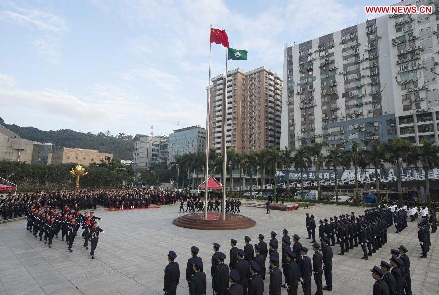 Flag-raising ceremony in Macao