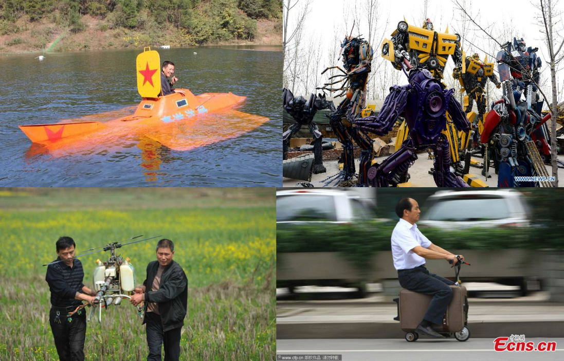 Chinese farmers' amazing inventions in 2014