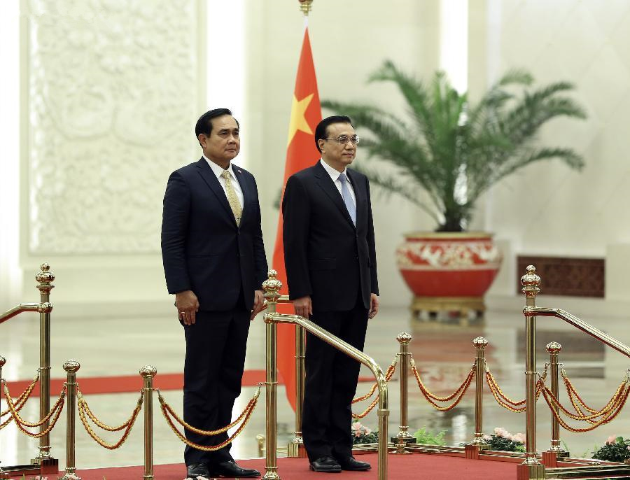 Premier Li meets Thai PM in Beijing