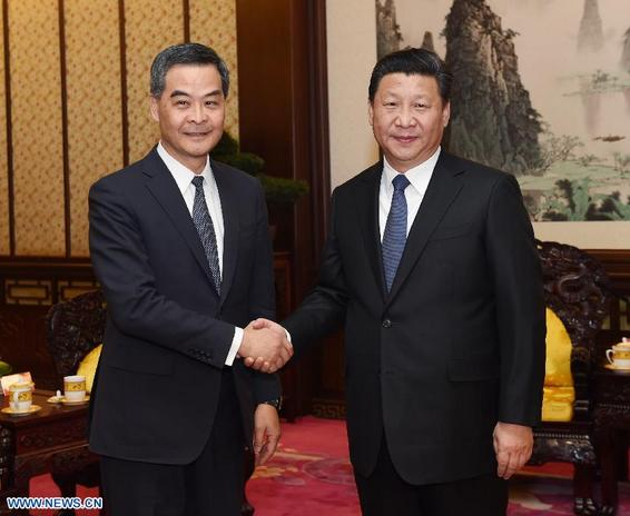 Xi meets HK chief executive
