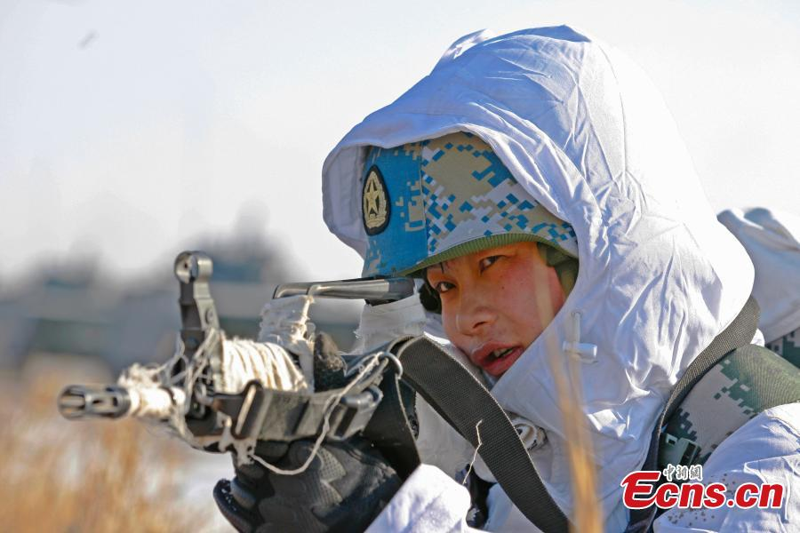 Chinese marines receive winter training in NE China