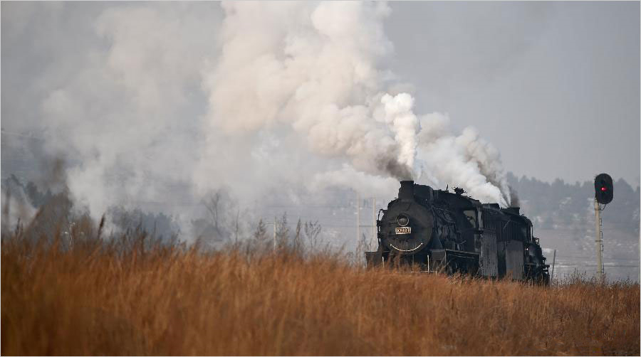 Nostalgic steam locomotive spurs tourism in Liaoning