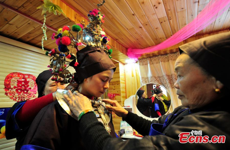Traditional wedding ceremony of China's Dong ethnic group