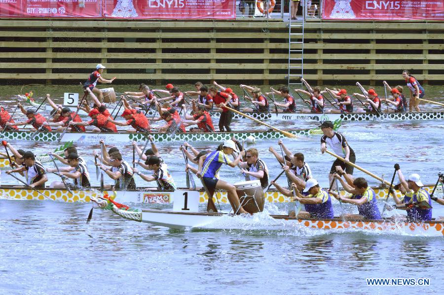 Sydney holds Dragon boat competes for Lunar New Year