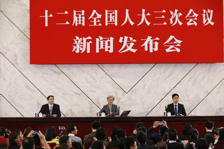 Press conference on 3rd session of 12th NPC held in Beijing