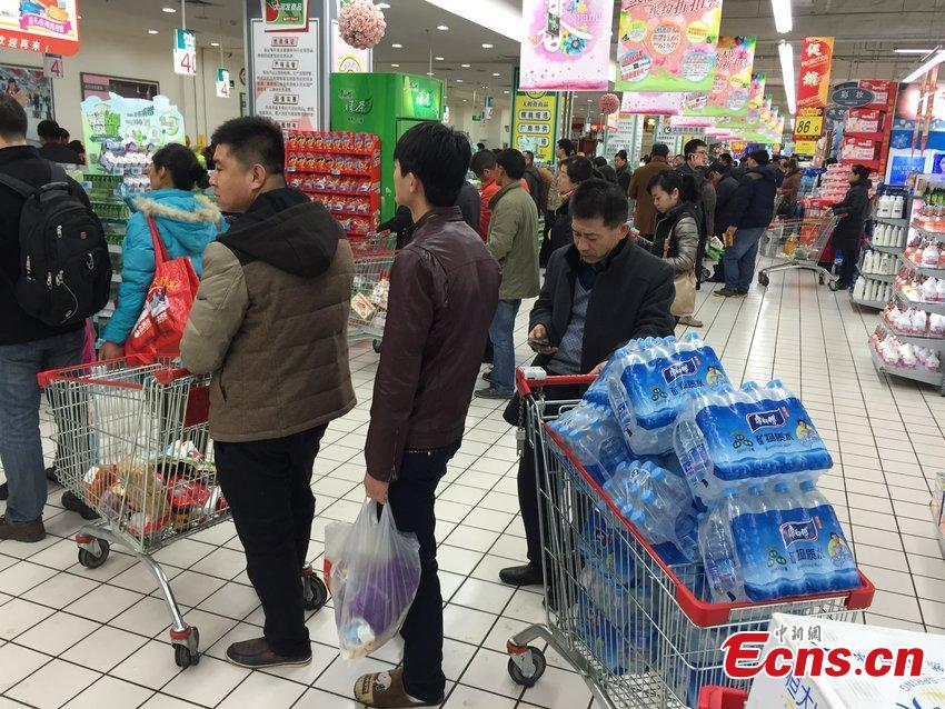 Odors lead to panic purchase of bottled water in Lanzhou