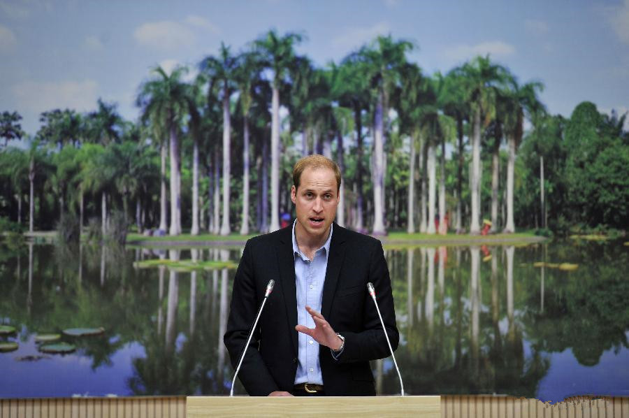 Prince William speaks at meeting on biodiversity protection