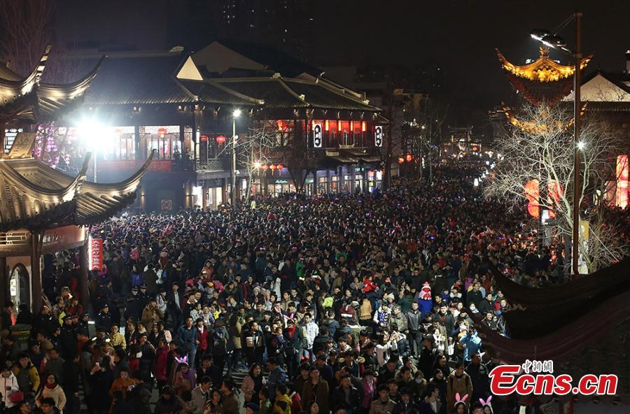 Nanjing Lantern Festival attracts 520,000 visitors