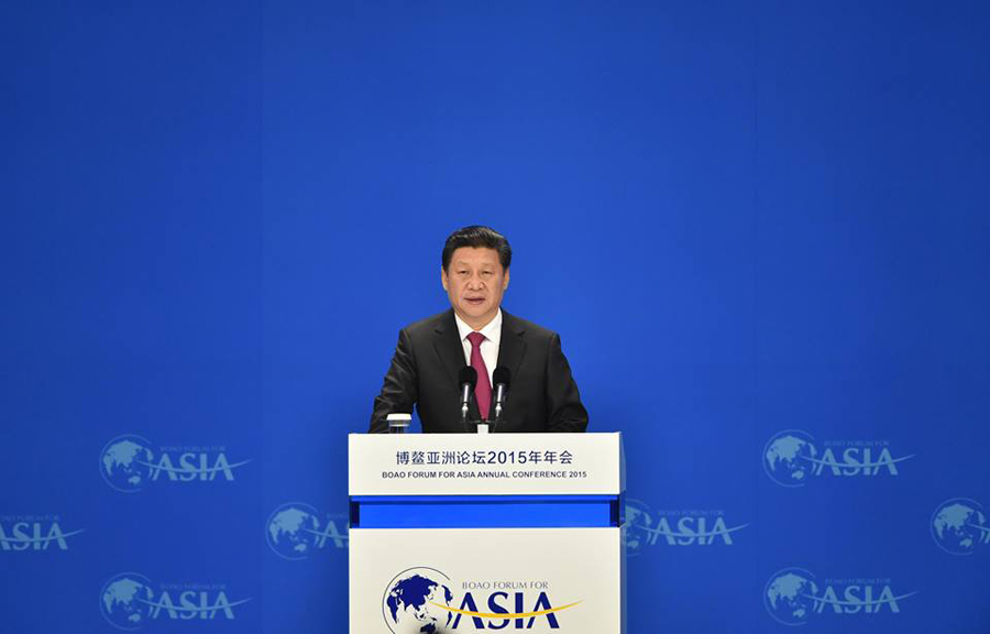 Xi delivers keynote speech at Boao Forum 2015
