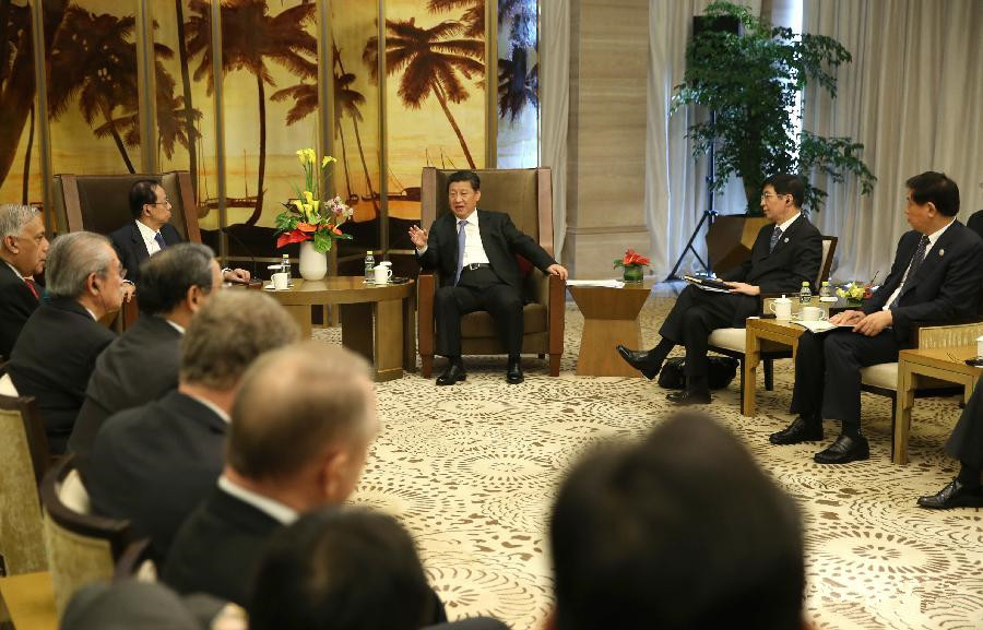 Xi meets members of BFA board of directors in Hainan