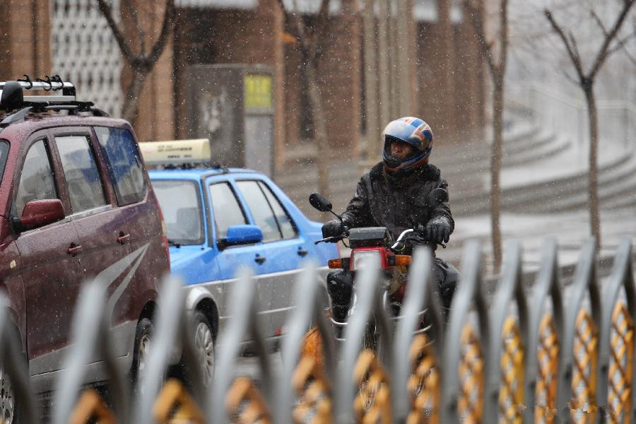 Parts of Gansu witness snowfalls