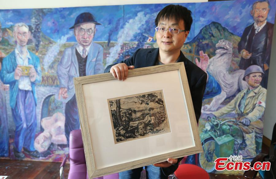 Teacher collects 3,000 woodblock prints on Japanese aggression